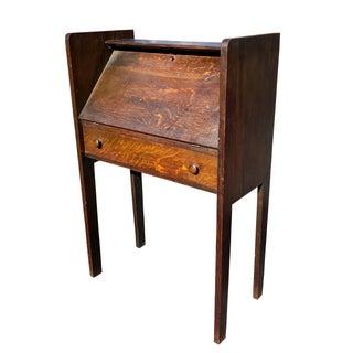 Antique Arts & Crafts Mission Quartersawn Oak Drop Front Secretary Desk Preview