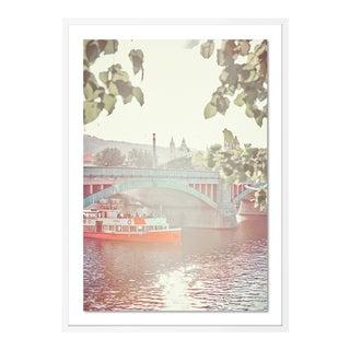 Vitava River Cruise by HULETT, Contemporary Photograph in White, Small For Sale