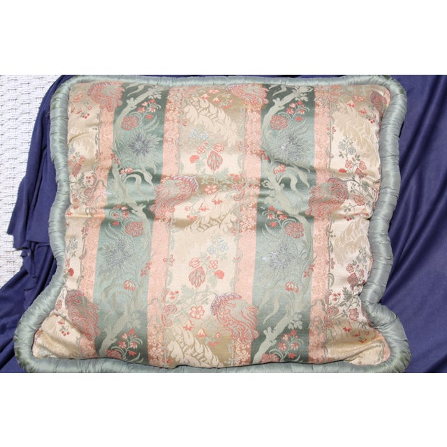 20th C. Two Difrernt Size of Possibly Italian Scalamandre Pillow For Sale - Image 4 of 10