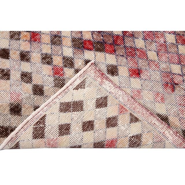Art Deco Mid 20th Century Vintage Art Deco Wool Runner Rug For Sale - Image 3 of 12