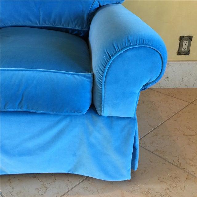 Venetian Blue Club Chairs - A Pair - Image 4 of 8