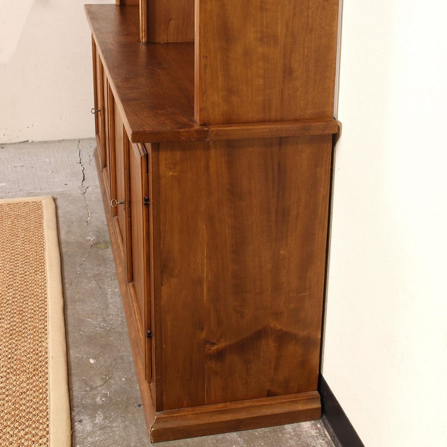 20th C. Large Italian Open Bookcase For Sale - Image 4 of 13