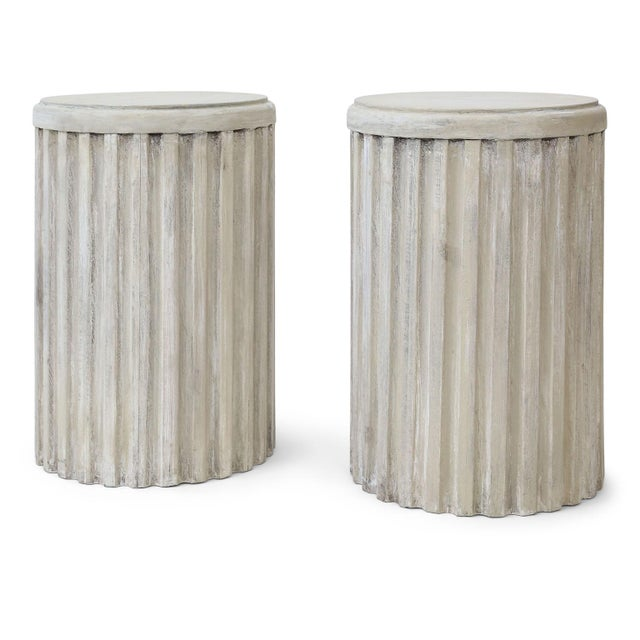 Two Painted Pedestal Tables For Sale - Image 12 of 12