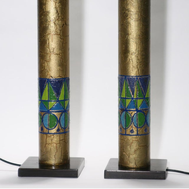 Italian Italian Copper Table Lamps - A Pair For Sale - Image 3 of 4