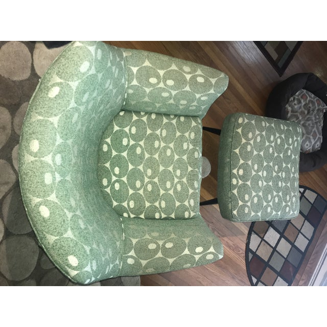 Wood Mid-Century Mod Martini Olive Club Chair and Ottoman For Sale - Image 7 of 10