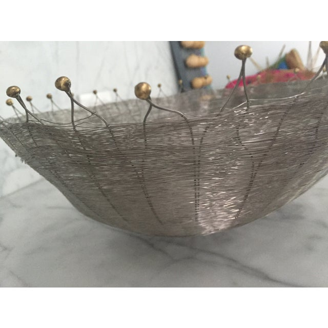 Silver Wire Basket For Sale - Image 4 of 6