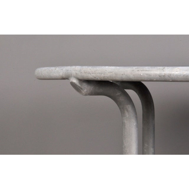 1950s Blue Stone , Indoor/ Outdoor Table Switzerland Circa 1950 For Sale - Image 5 of 9