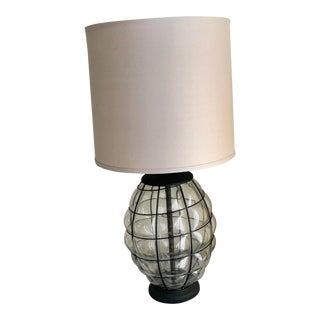 Nautical Style Glass Table Lamp For Sale