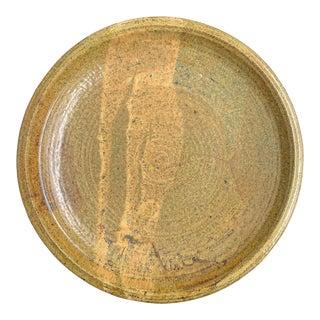 Large Studio Pottery Platter For Sale