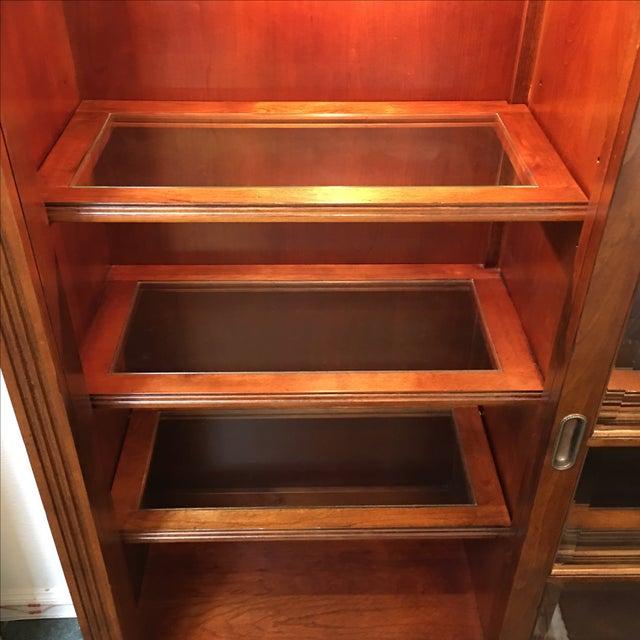 Henley Cherry Sliding Door Book Case - Image 5 of 11