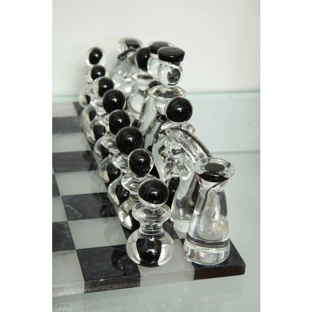 Murano Glass Chess Set For Sale - Image 4 of 6