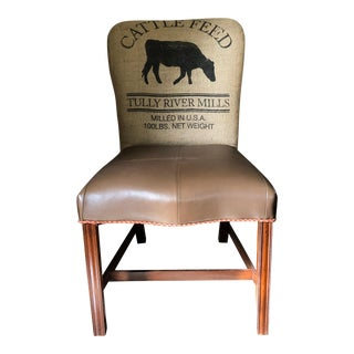 Charolais Vintage Armless Side Chair For Sale