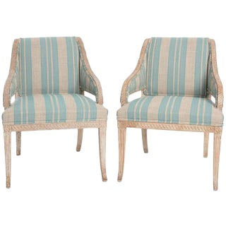 Pair of Late-Gustavian Armchairs For Sale