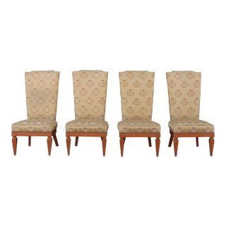 1970s Vintage Oriental Chairs- Set of 4 For Sale