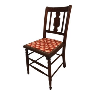Antique Bargello Needlepoint Accent Chair For Sale