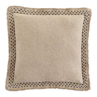 Anaya Hand Quilted Border Cotton Pillow For Sale