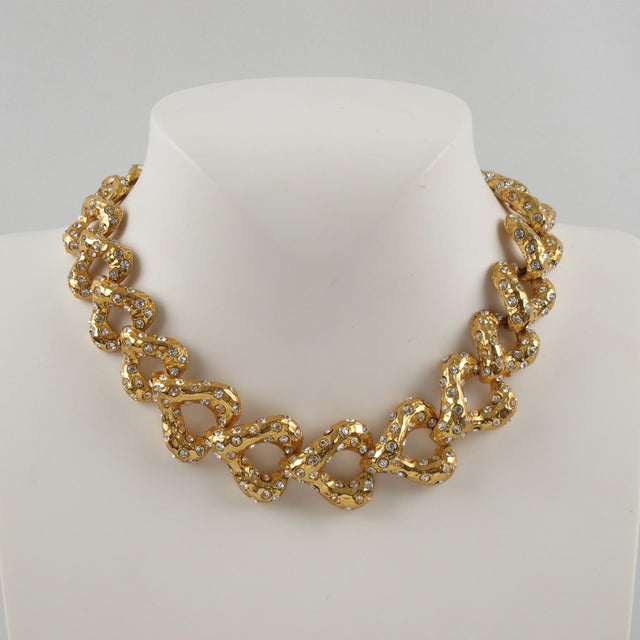 Contemporary French Designer Alexis Lahellec Paris Signed Jeweled Choker Necklace For Sale - Image 3 of 8