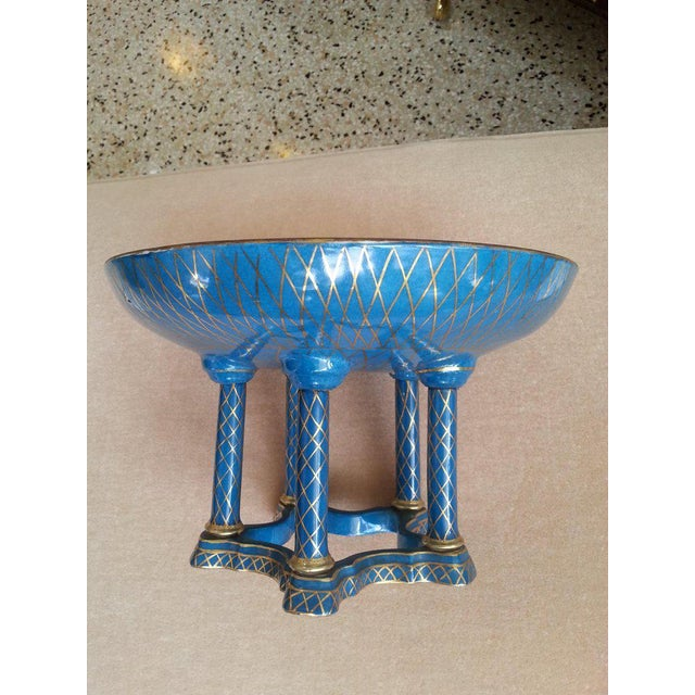 Metal Antique French Porcelain Compote For Sale - Image 7 of 13