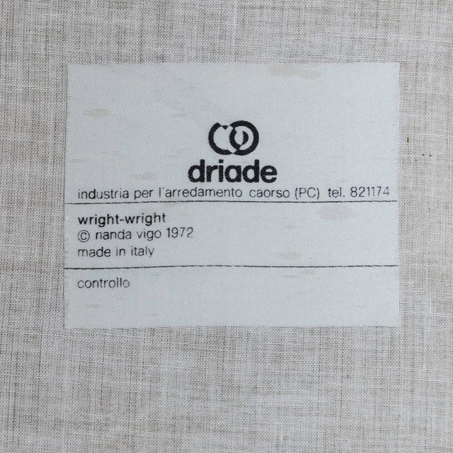 """Unique Set of Six """"Wright/Wright"""" Chairs by Nanda Vigo for Driade For Sale - Image 9 of 10"""