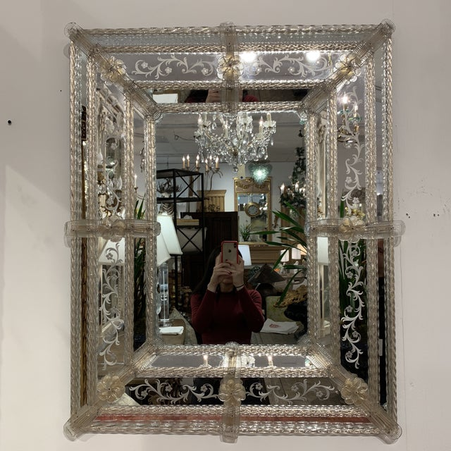Vintage Murano Mirror For Sale - Image 11 of 13