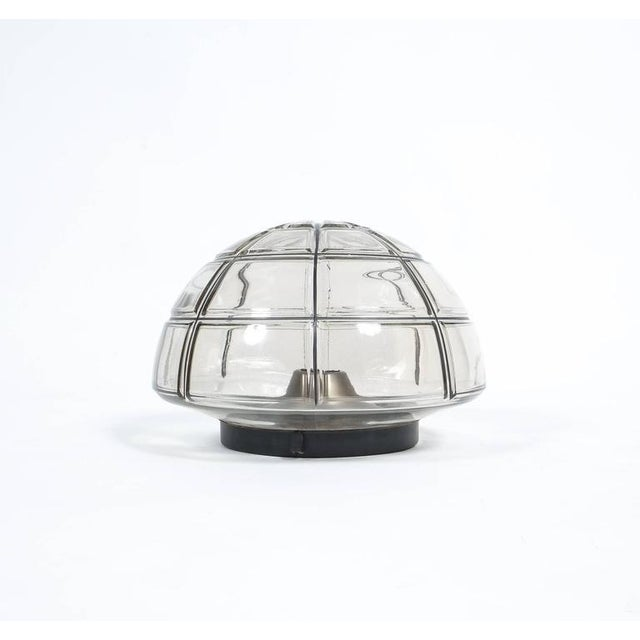 Mid-Century Modern Limburg flush mounts Ceiling lamp Clear Glass one out of five, 1970 For Sale - Image 3 of 4