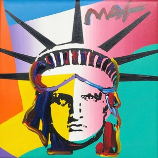 Peter Max Liberty Head 2011 For Sale