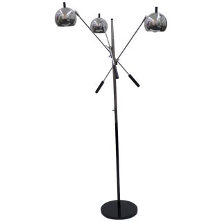 Chrome Vintage Floor Lamp Arredoluce Style For Sale