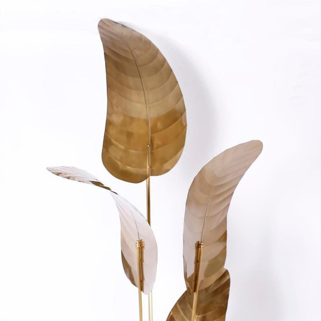 Tall Midcentury Palm Leaf Sculptures - A Pair For Sale - Image 9 of 10