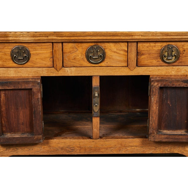 Metal 19th C. Chinese Elm Sideboard For Sale - Image 7 of 9