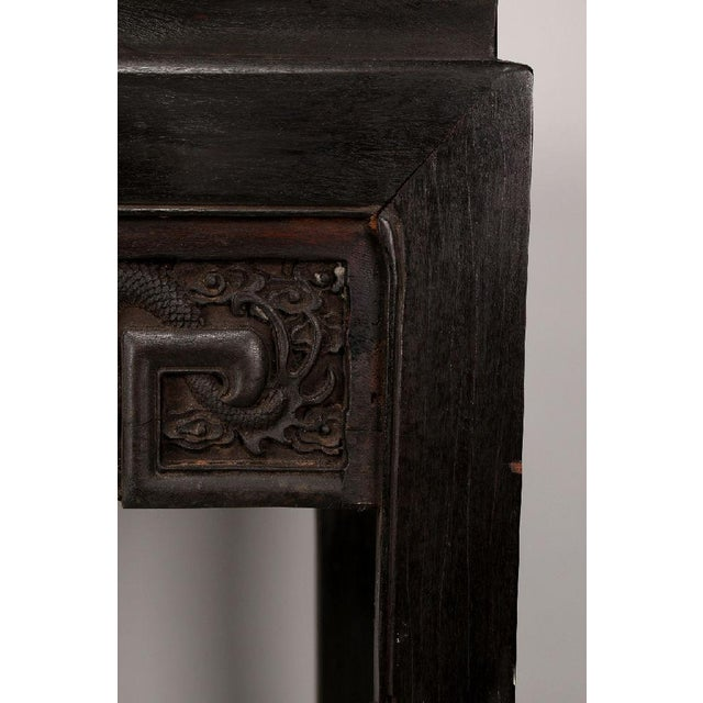 Wood Antique Chinese Handmade Zitan Dragon Table For Sale - Image 7 of 11