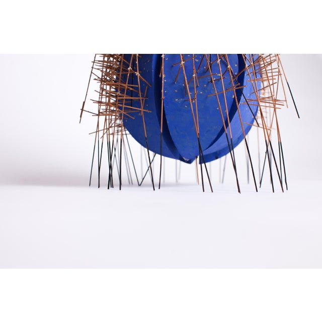 20th Century Irving Harper Kinetic Round Blue Geometric Sculpture For Sale In New York - Image 6 of 7