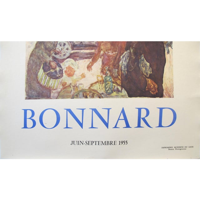 1955 Original French Exhibition Poster, Bonnard For Sale - Image 4 of 7