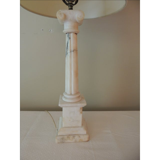 Antique French Marble Column Lamp - Image 3 of 5