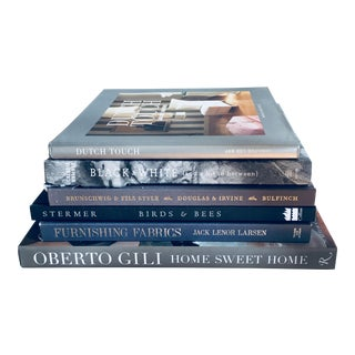 Gray Art & Design Books - Set of 6