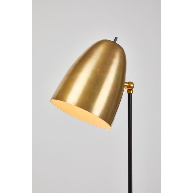 """""""Oro"""" Brass and Metal Floor Lamp For Sale - Image 10 of 12"""