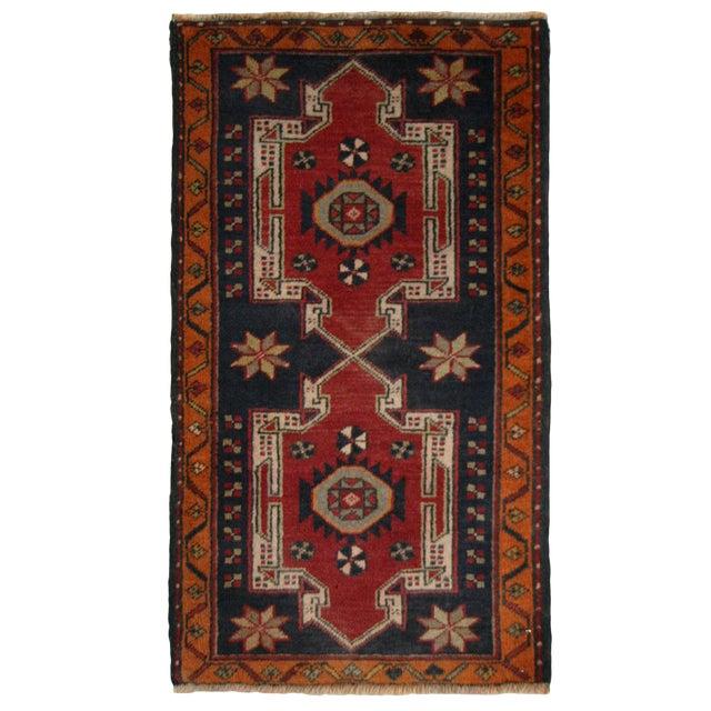 Geometric Medallions Yastik | 1'8 x 3' Turkish Carpet - Image 1 of 2
