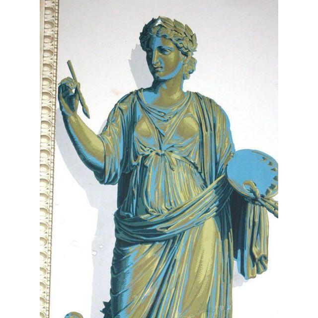 Paper Greek Goddesses Wallpaper Panels - Set of 4 For Sale - Image 7 of 11
