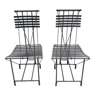 Pair of Ilana Goor Wrought Iron Side Chairs For Sale