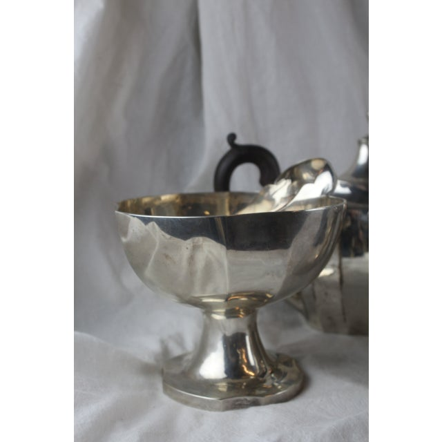 Silver Late 1700s Federal Tea Set of 5 For Sale - Image 8 of 10