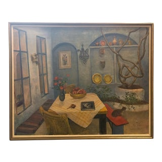 Realism Interior Still Life Painting by Ann Sonia Medalie For Sale