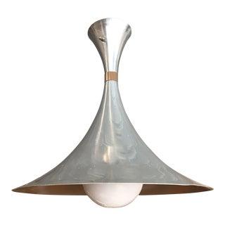 Vintage Aluminum Hourglass Pendant For Sale