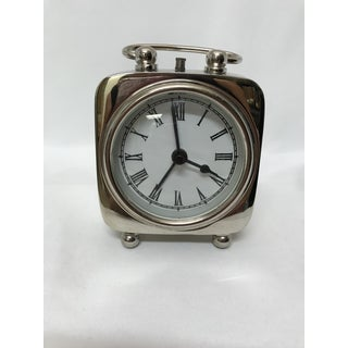 Mid 20th Century Silver Plate Bedside Alarm Clock Preview