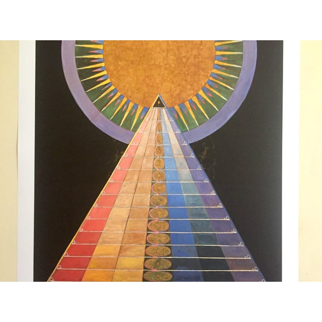 "Abstract Hilma Af Klint Abstract Lithograph Print Moderna Museet Sweden Exhibition Poster "" Altarpiece No.1 Group X "" 1915 For Sale - Image 3 of 13"
