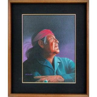 Southwestern Portrait by Jeff St. John For Sale