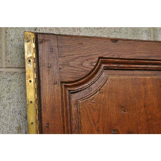 19th Century French Louis XVI Oak Interior Double Doors - Set of 2 For Sale - Image 4 of 13