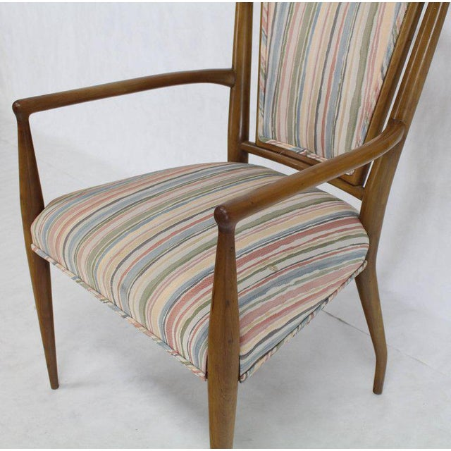 Set of Six Mid-Century Modern Walnut Dining Chairs by Widdicomb in Ponti Style For Sale - Image 9 of 10