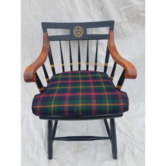Harvard University Veritas Nichols & Stone Captain's Chair For Sale - Image 4 of 12