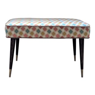 Mid Century Style Small Upholstered Bench