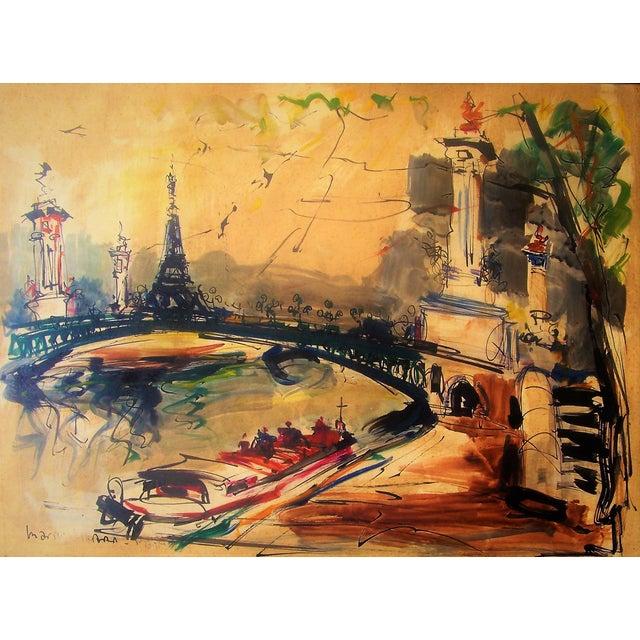 Mid-Century Modern Paris Painting - Image 2 of 3