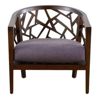 Crate & Barrel Ankara Truffle Frame Chair With Fabric Cushion For Sale